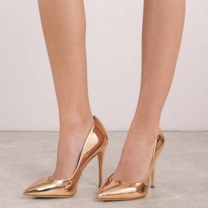 Rose Gold Steve Madden Metallic Heels